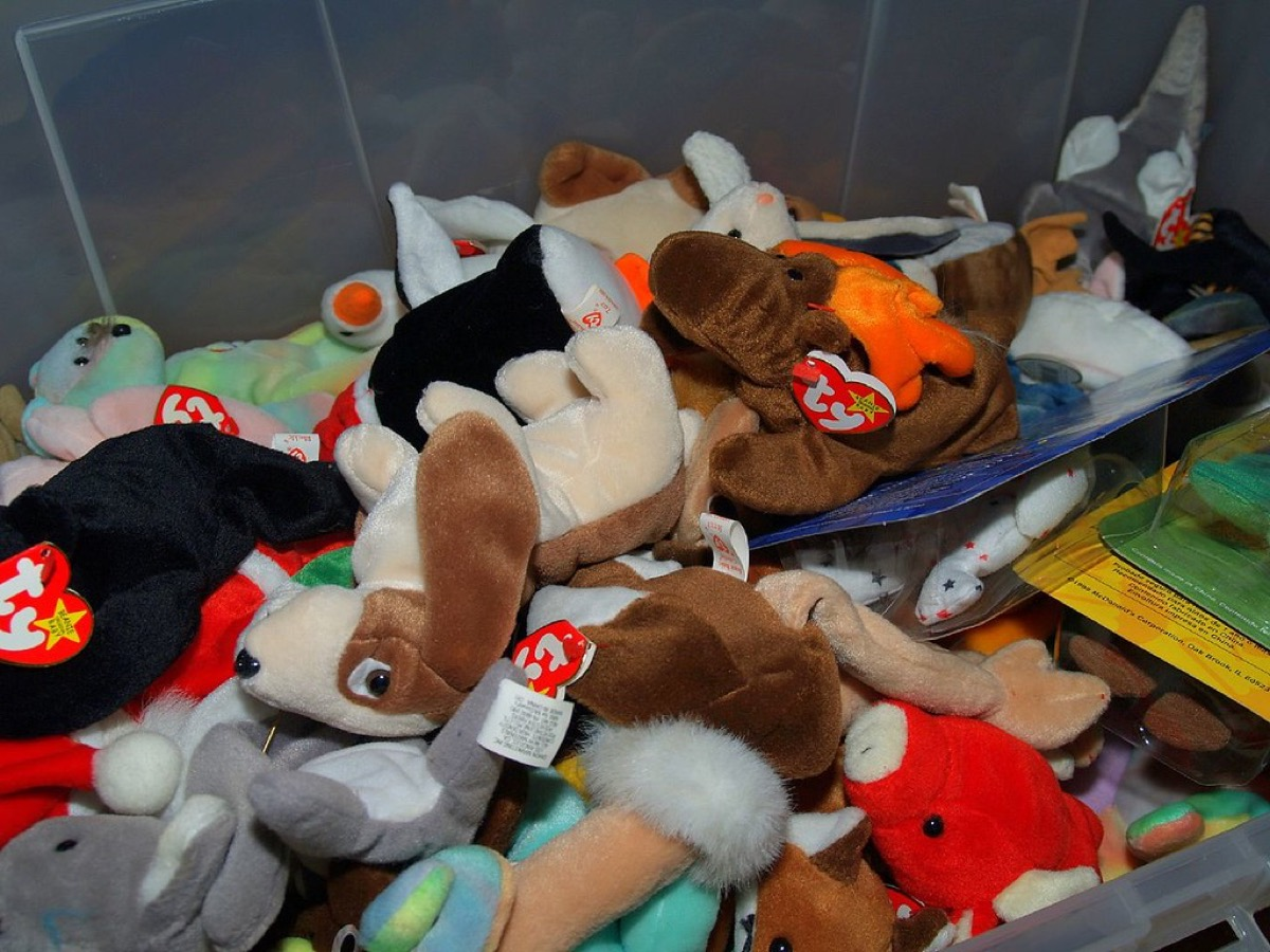 Pile of old beanie babies