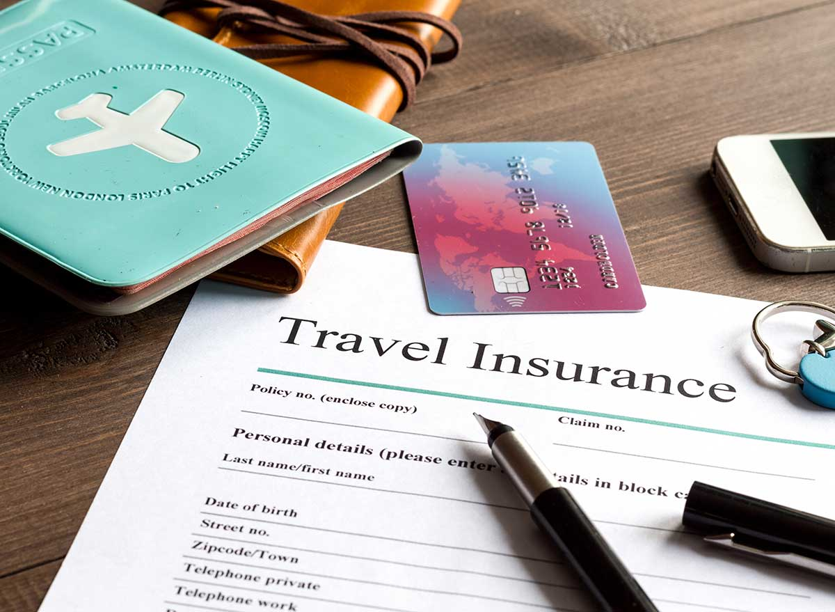 passport, credit card, and travel insurance papers