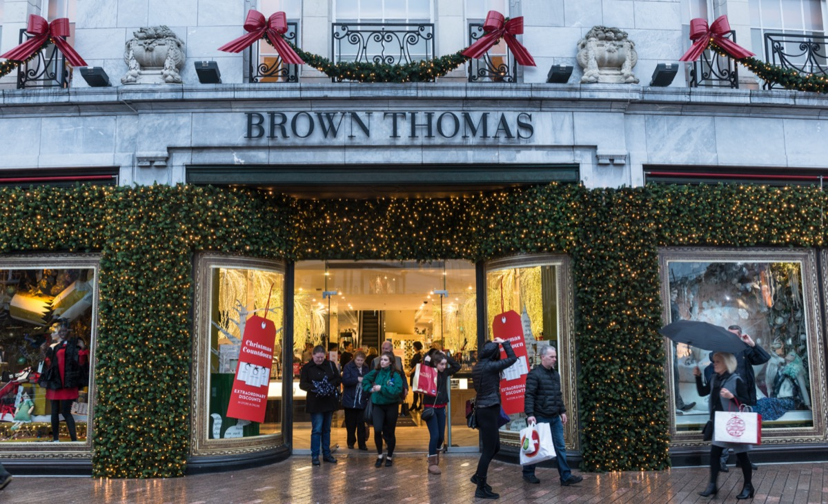 front of brown thomas store