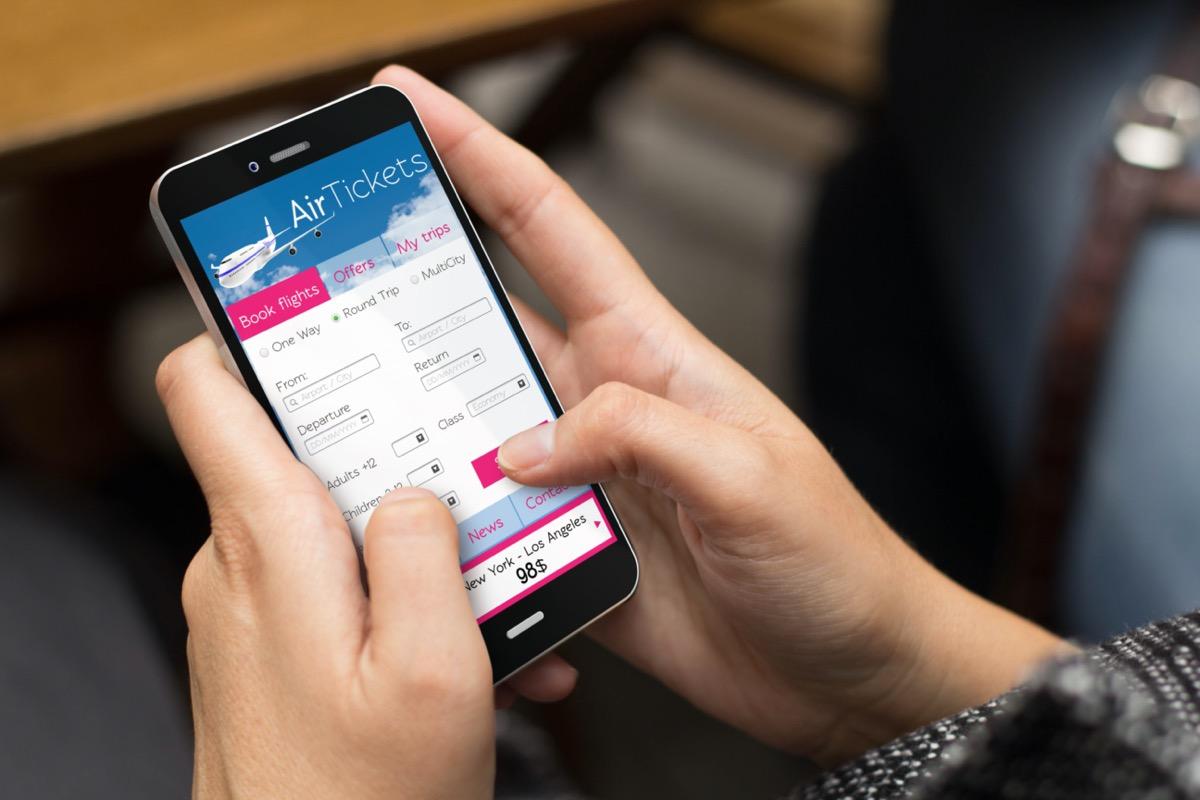 buying ticket through online app
