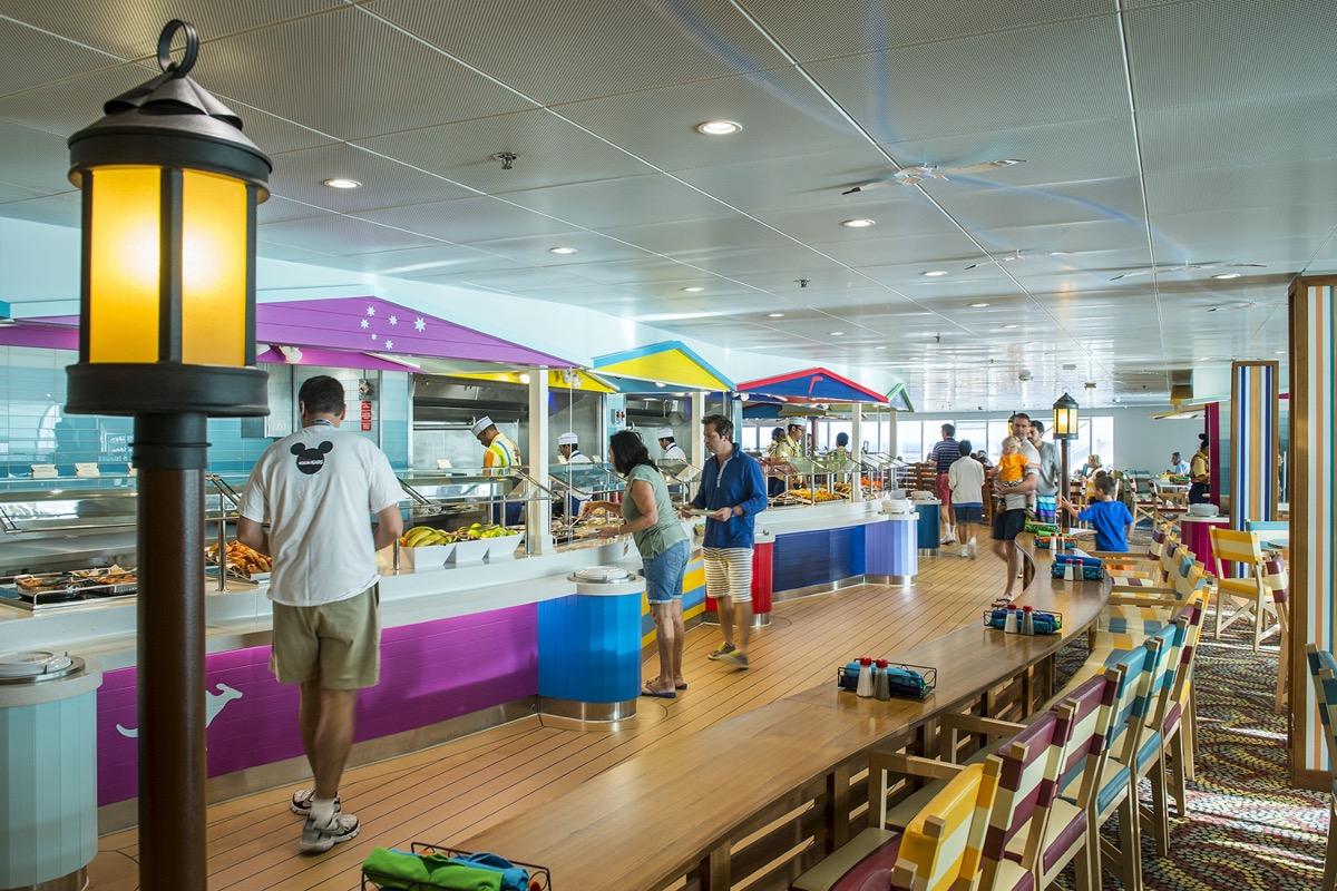 cabanas cafeteria style disney cruise