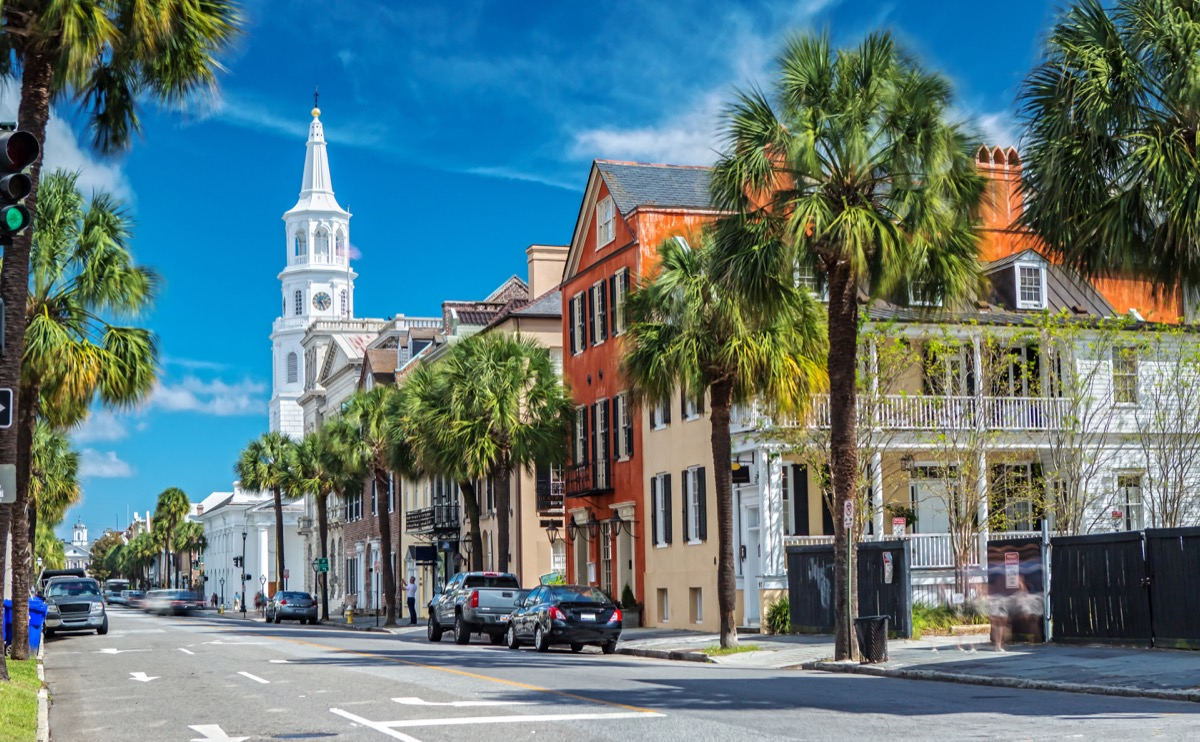 St. Michaels Church from Broad St. in Charleston, SC