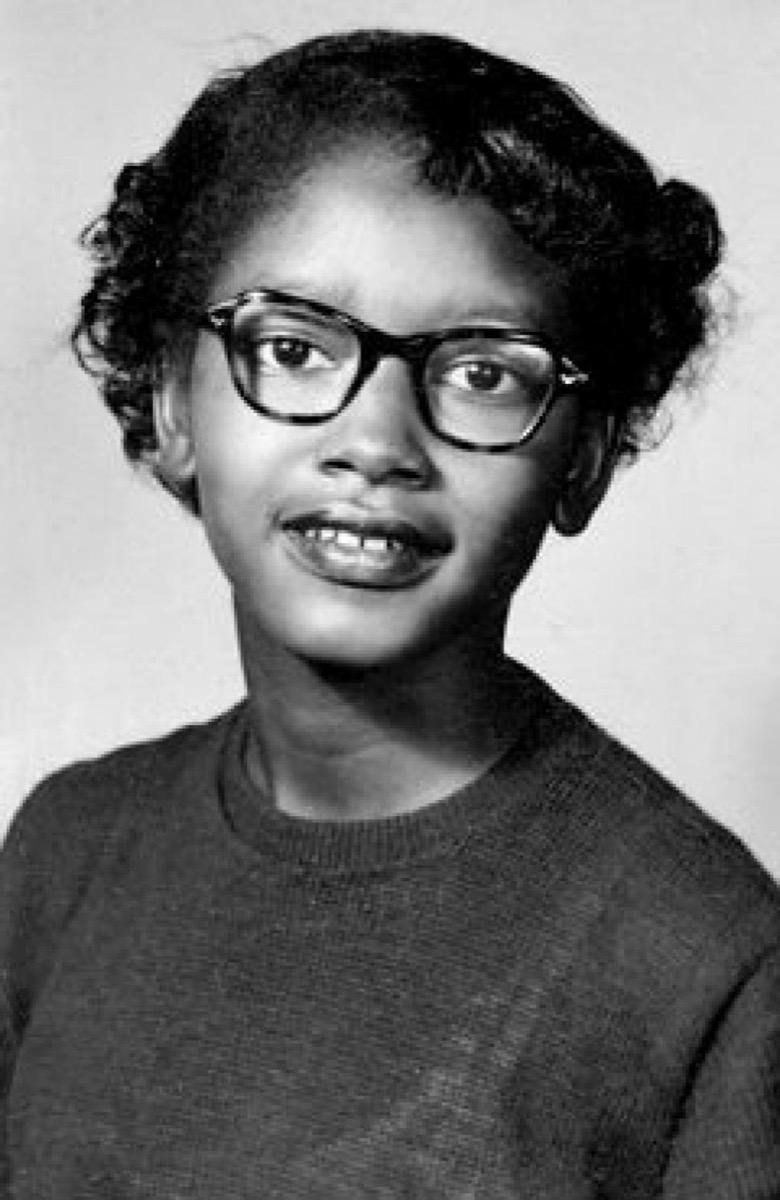 young portrait of civil rights figure claudette colvin
