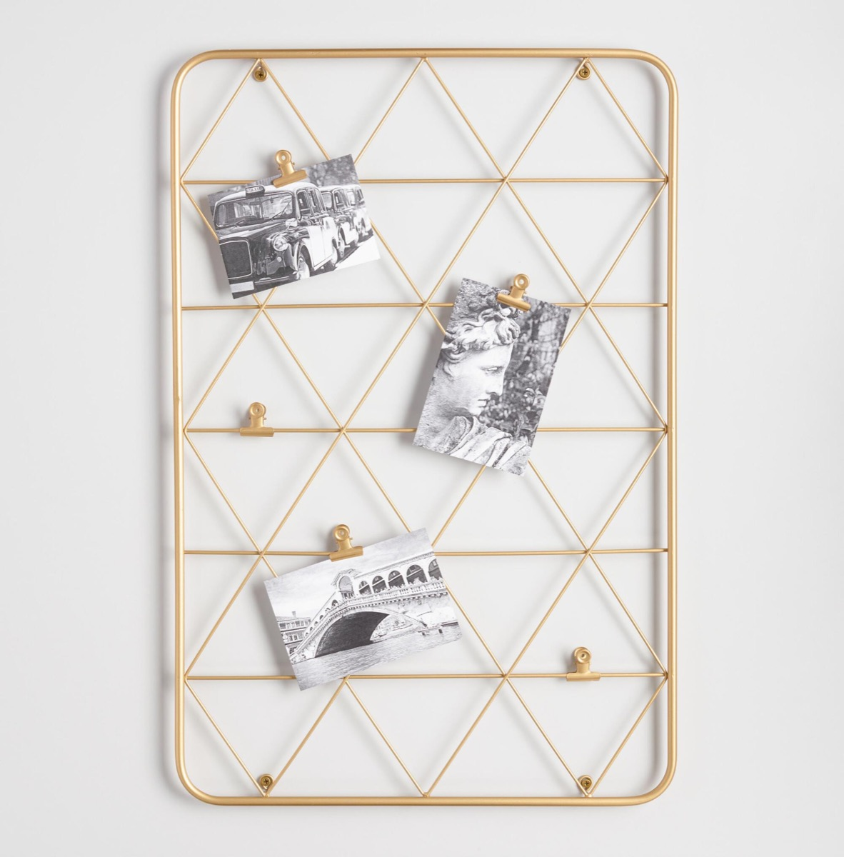 gold wire clip photo frame