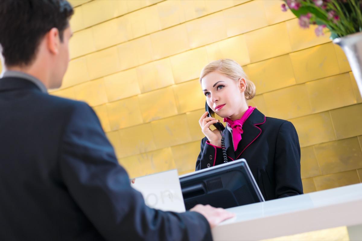 concierge suspicious of guest