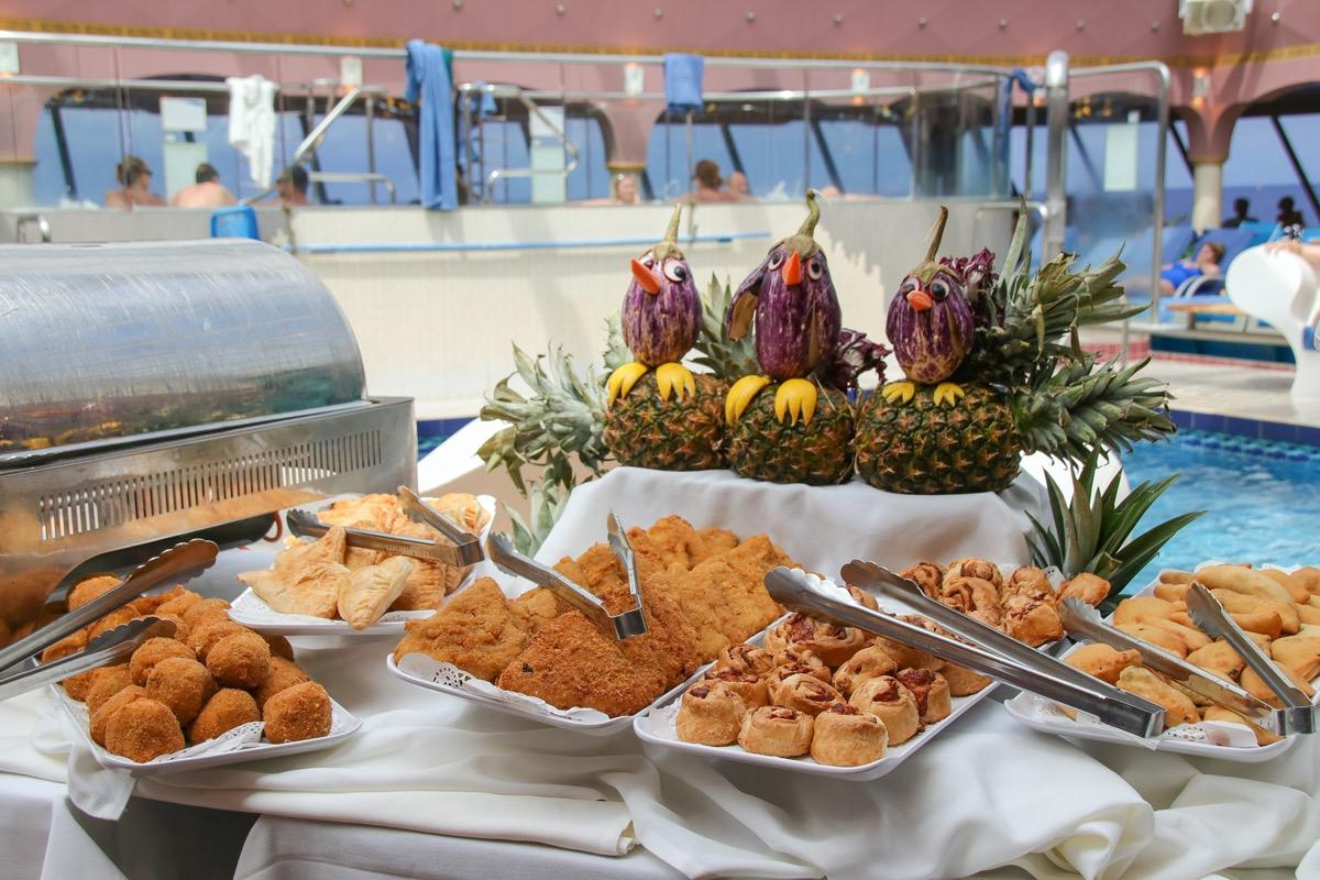 cruise buffet fried food
