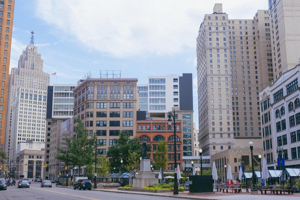 capitol park in Detroit downtown Summer