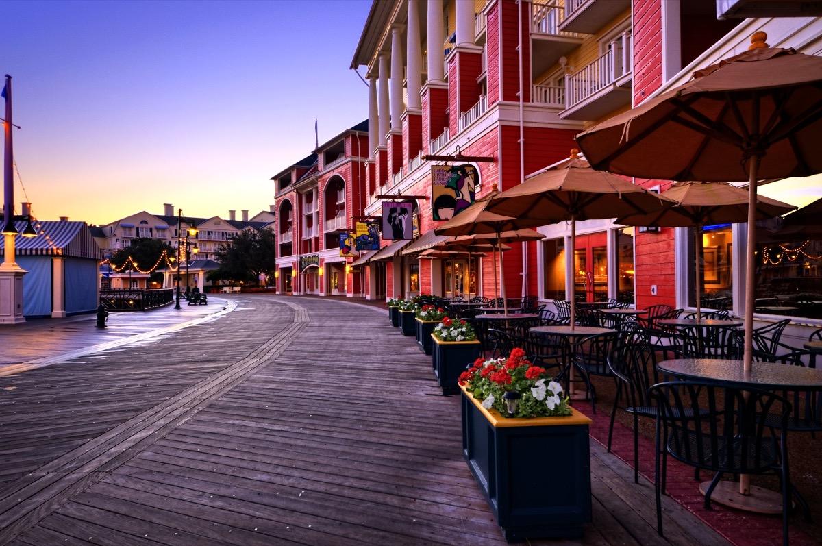 early morning at the disney boardwalk inn