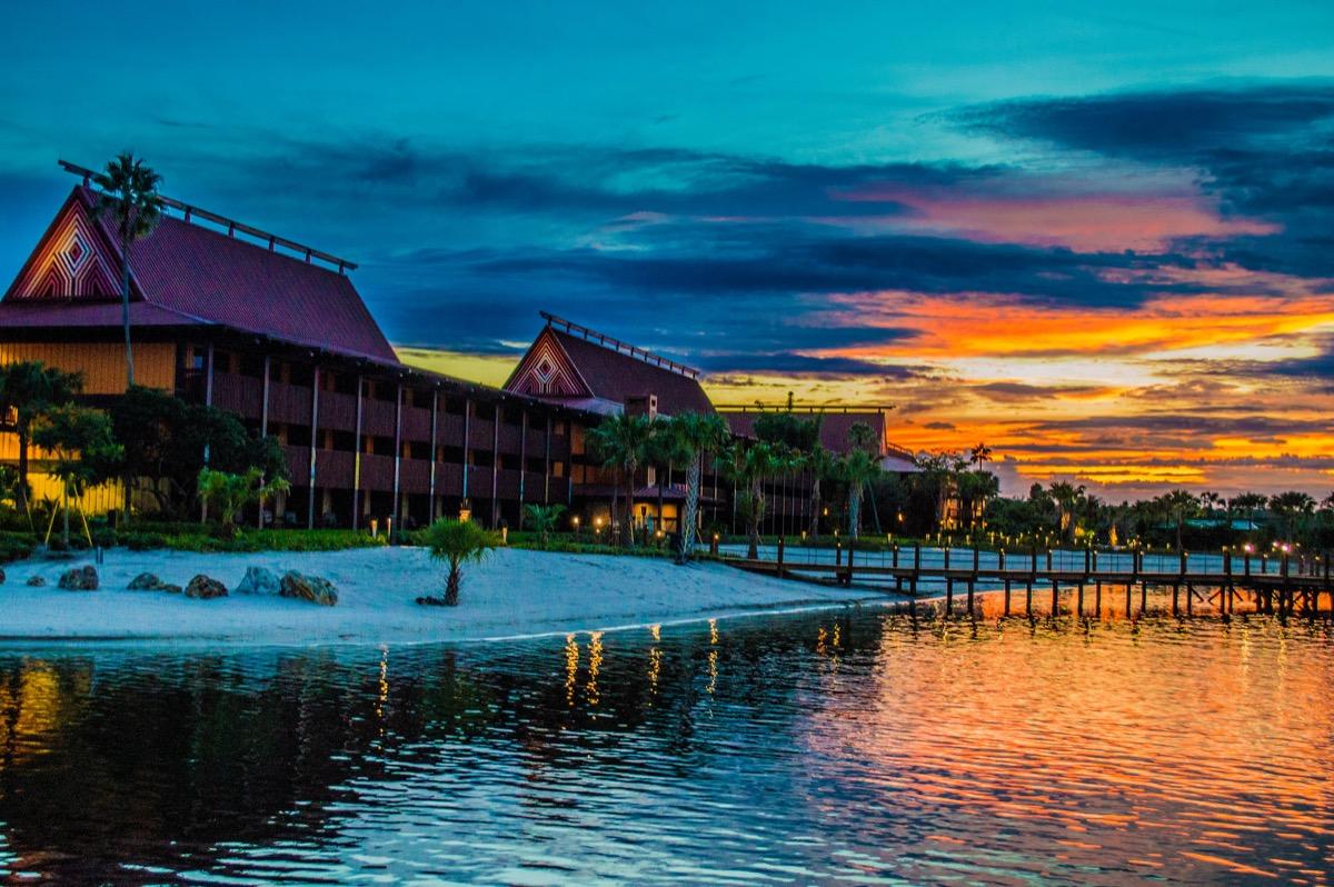 sunset at the disney polynesian village resort
