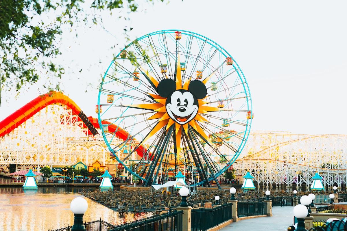 mickey ferris wheel in disneyland theme park anaheim california