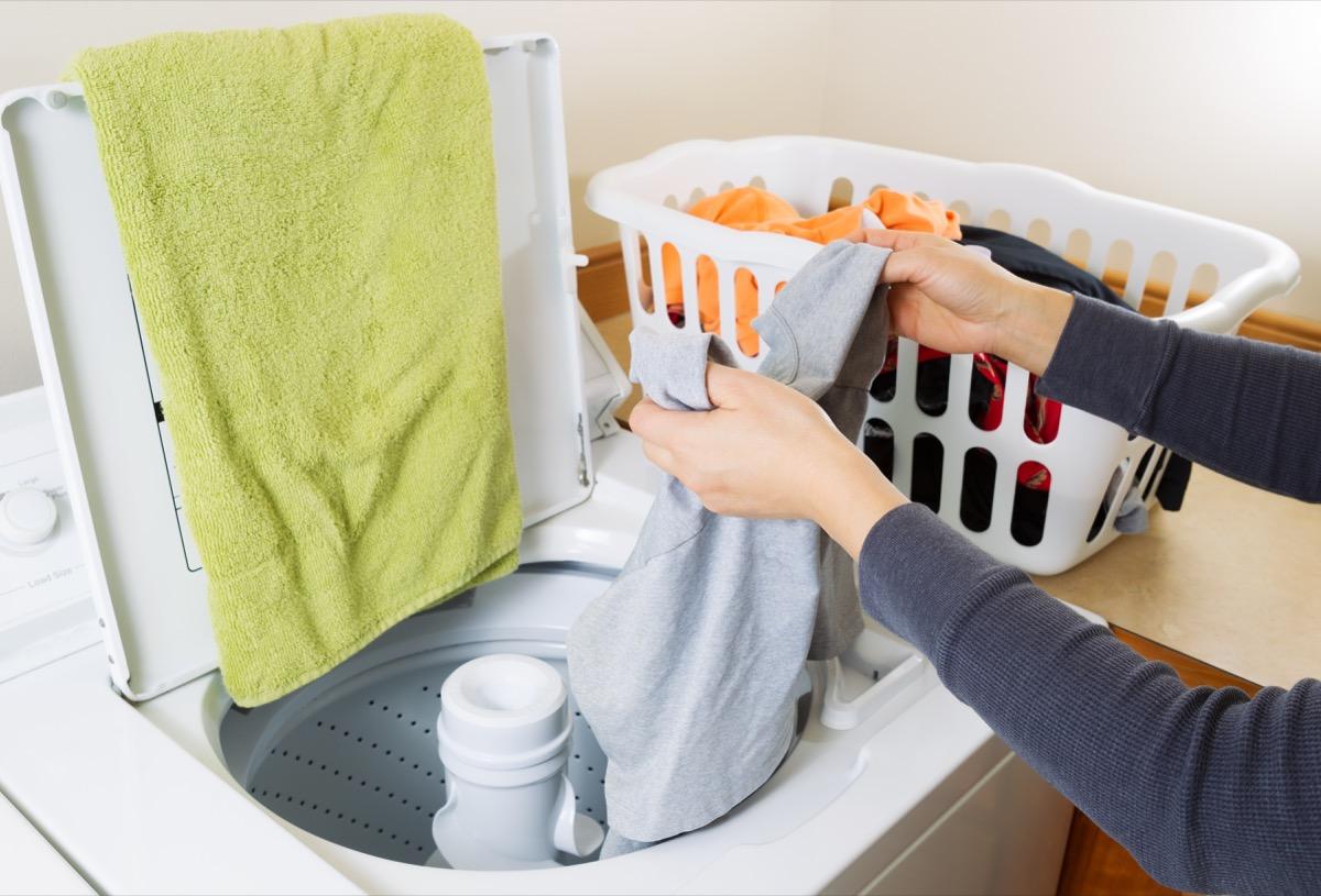 Photo of someone doing laundry
