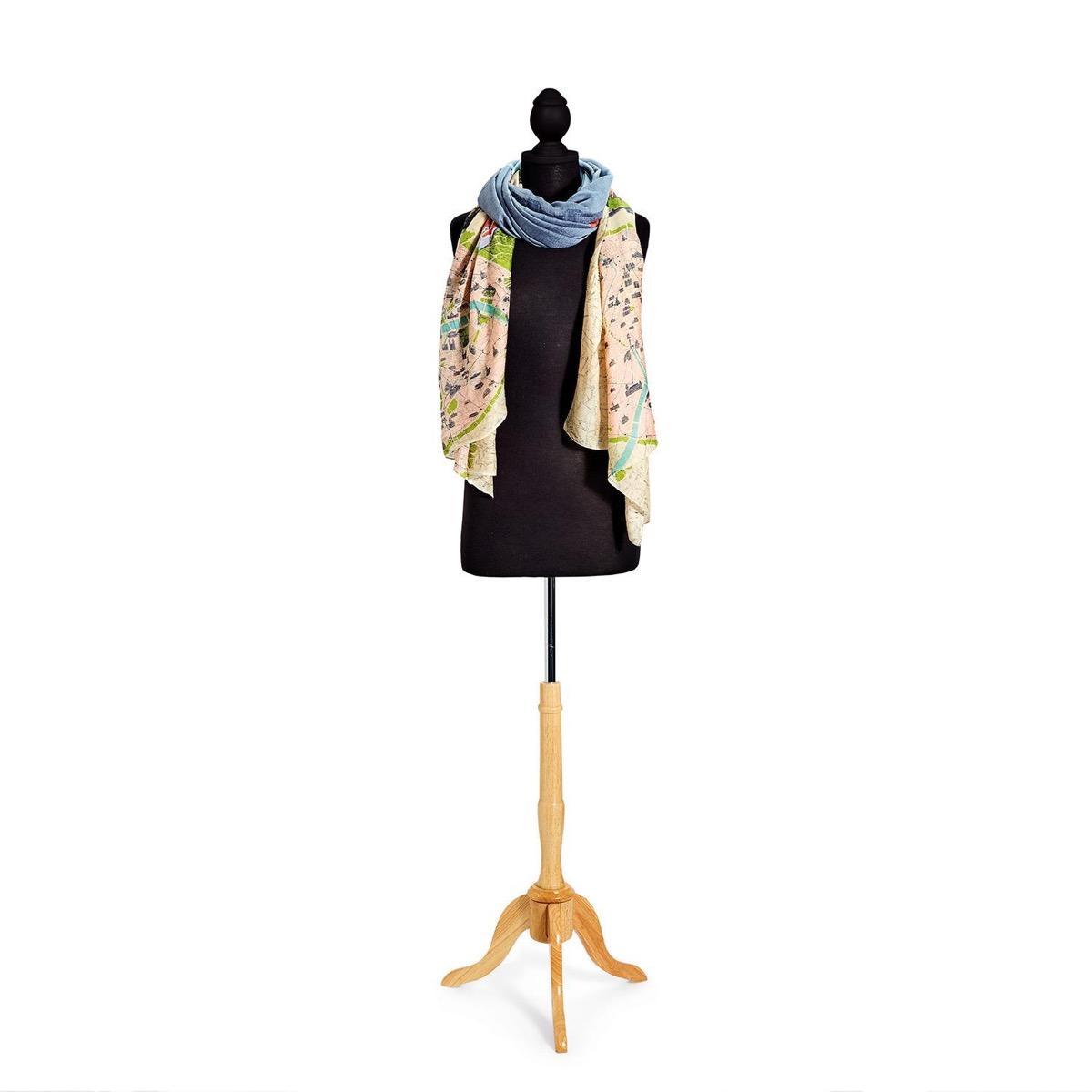 Eiffel Tower scarf on mannequin