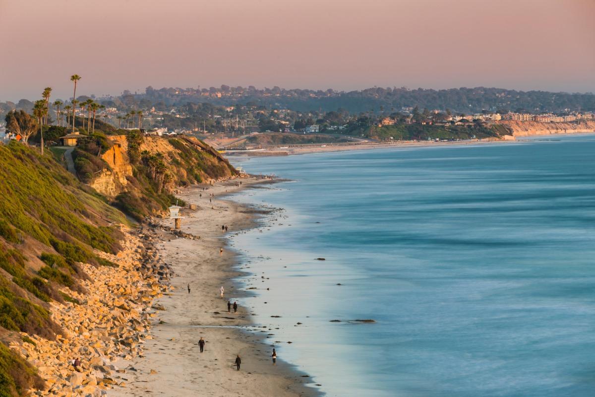 overview of san elijo state beach in encinitas california