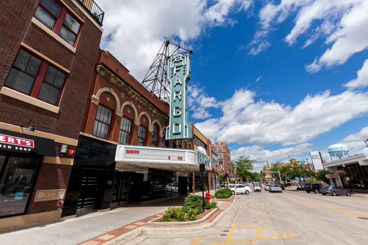 downtown fargo and the fargo movie theater in north dakota