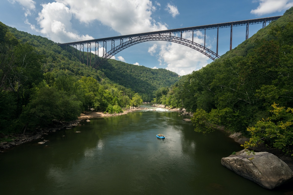 the high arched bridge in fayetteville west virginia