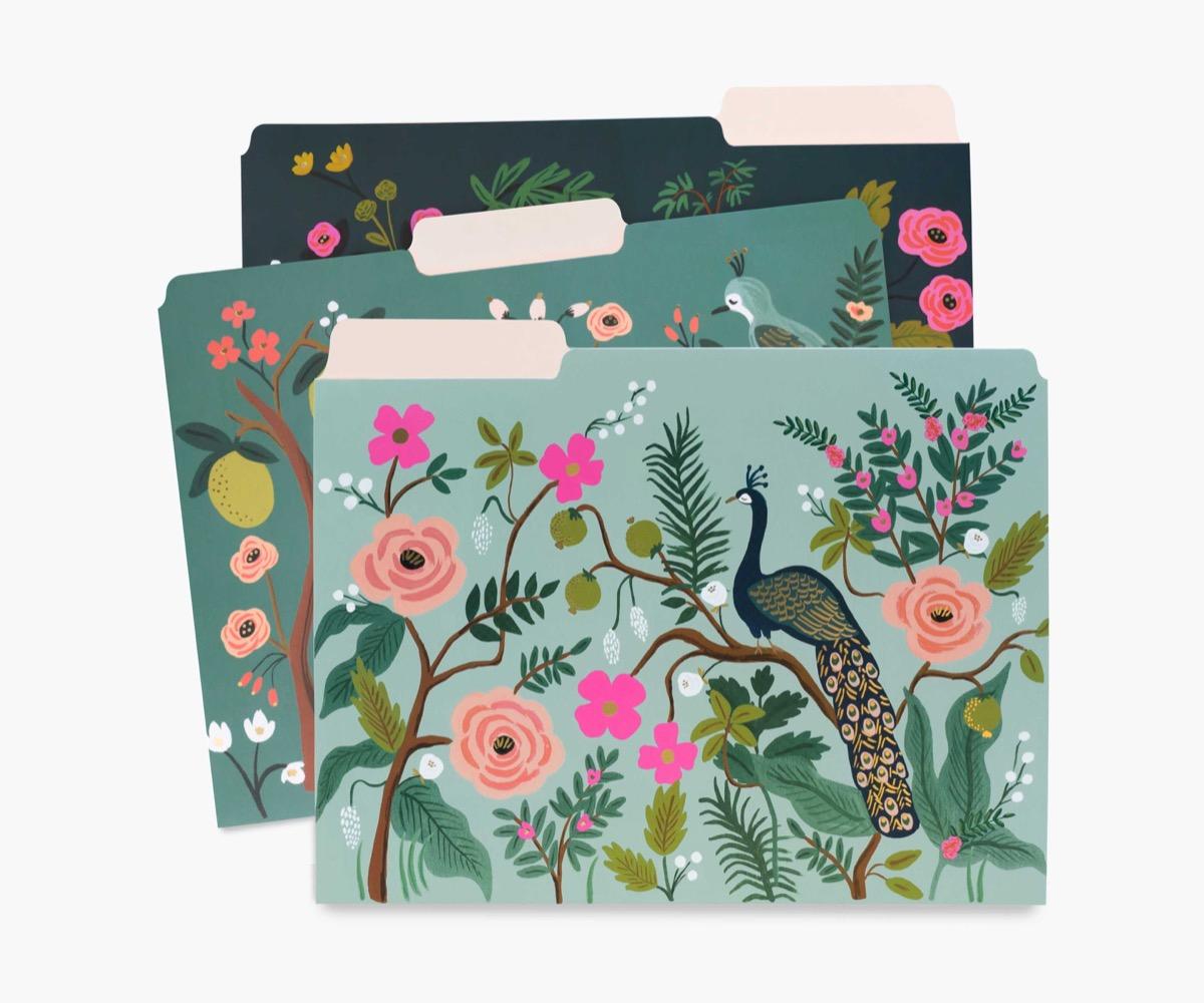floral folders