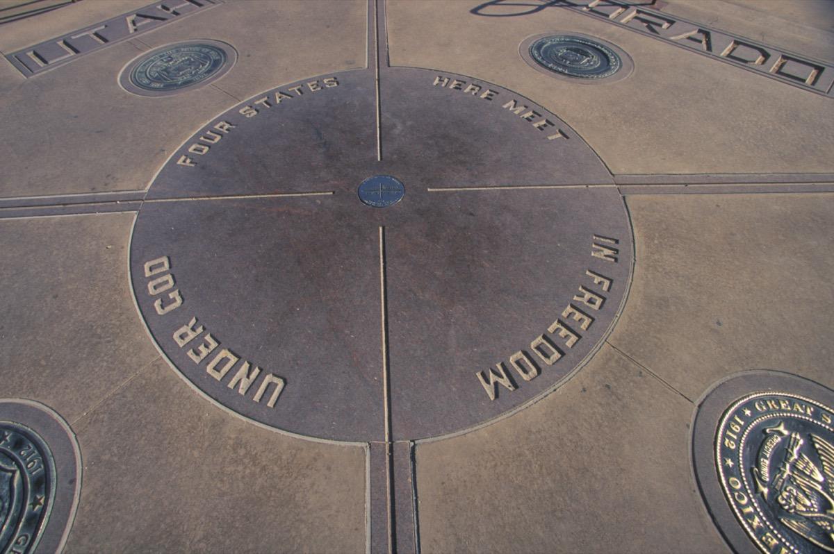 the four corners dividing utah new mexico arizona colorado