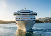 front view of a cruise ship