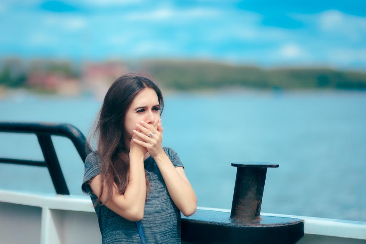 girl sick on cruise