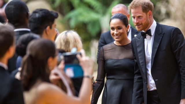 Meghan, Duchess of Sussex and Prince Harry attend The Lion King European Premiere, London, UK in 2019