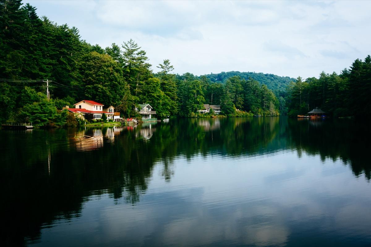 a lake in the highlands of north carolina
