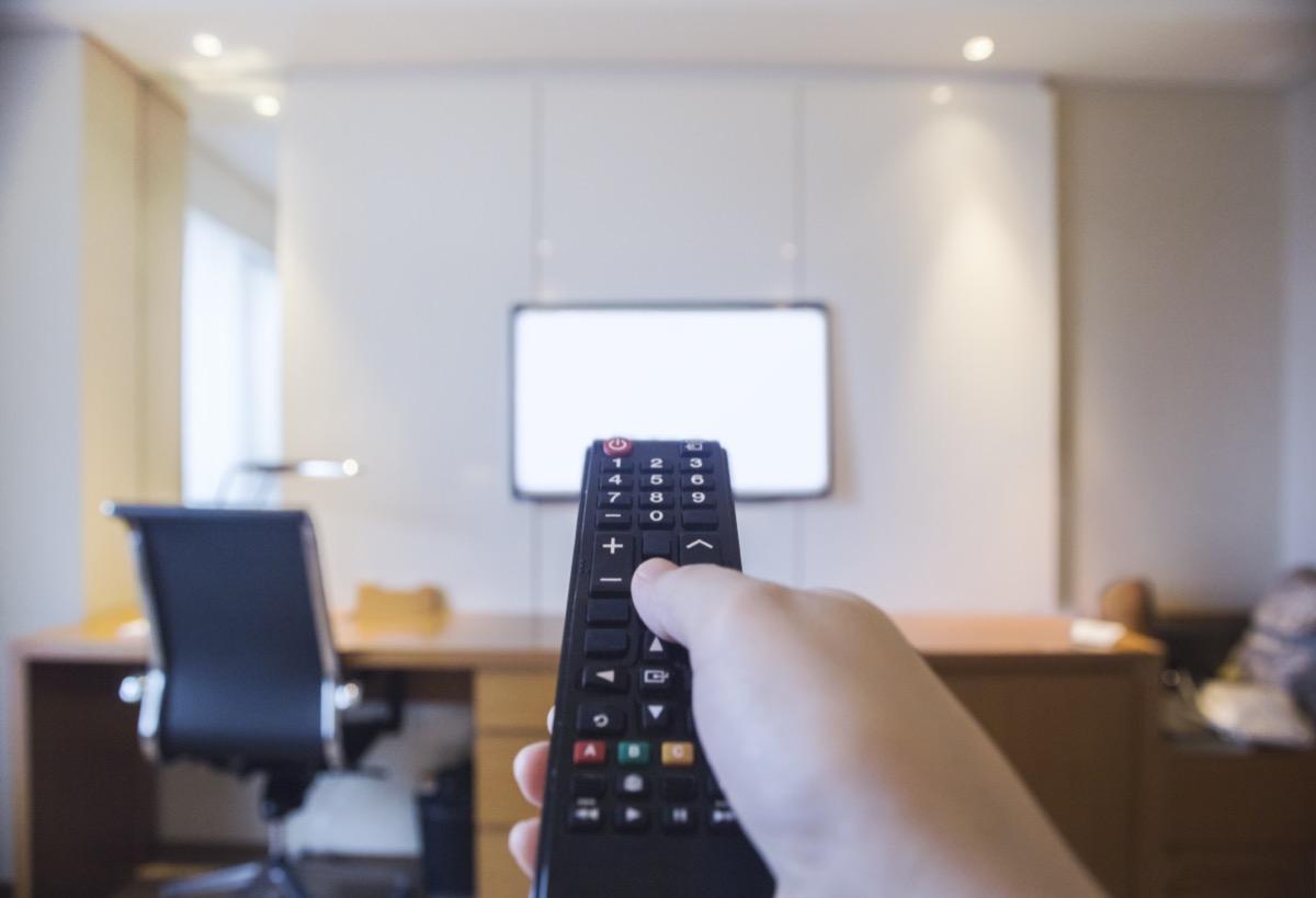hotel room tv remote