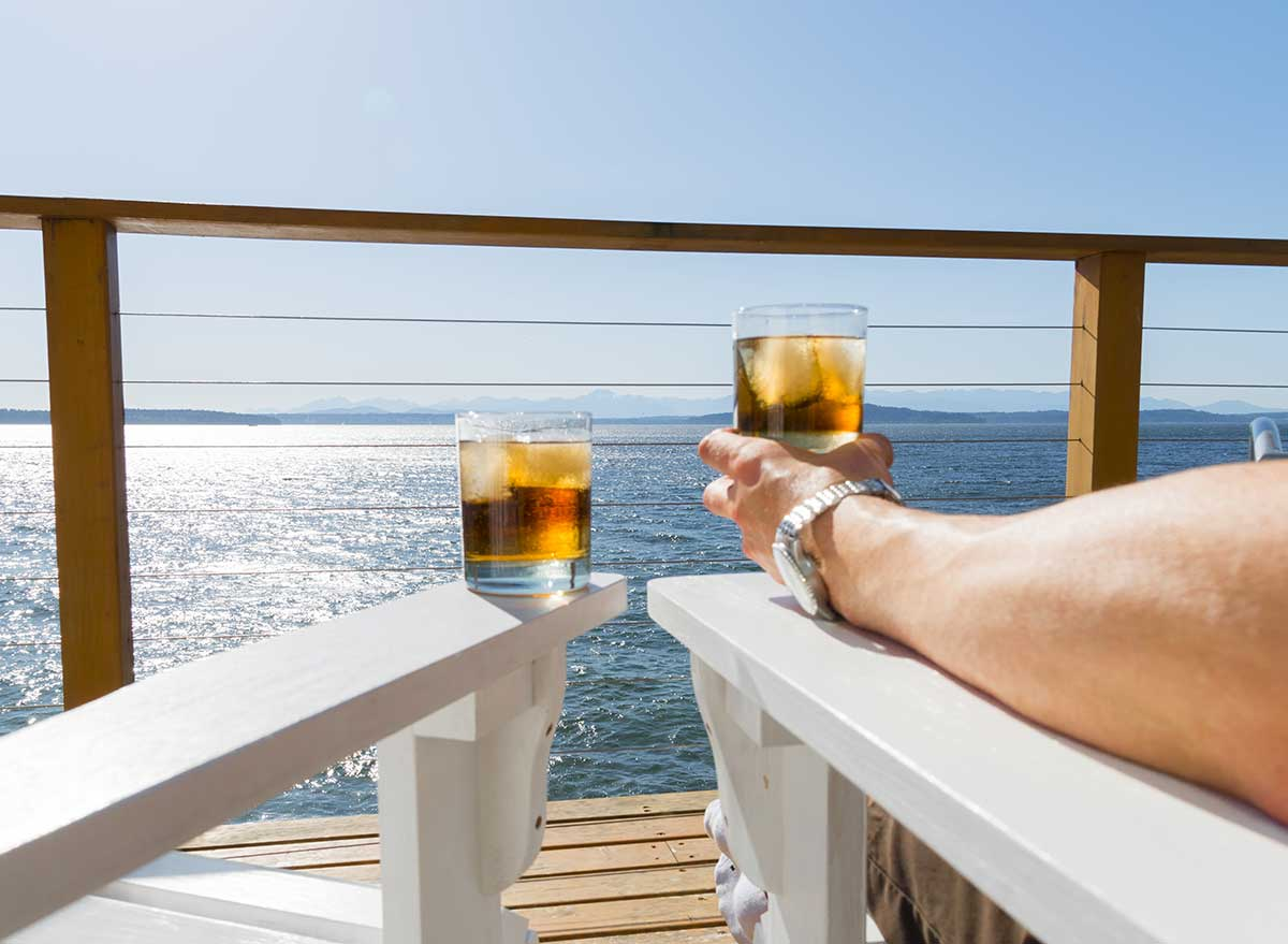 iced drink on cruise