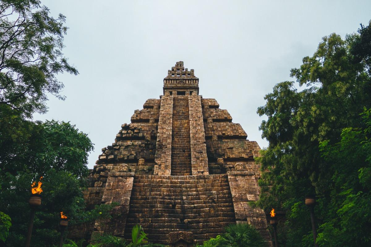 pyramid at the indiana jones adventure ride in disneysea tokyo