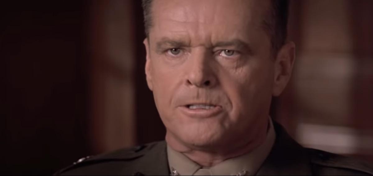 Jack Nicholson on A Few Good Men