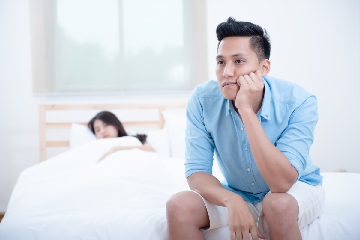 Man stressed with a low libido