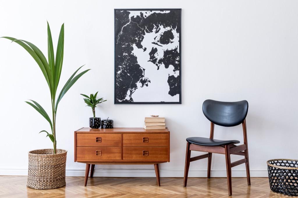 Map wall decor art