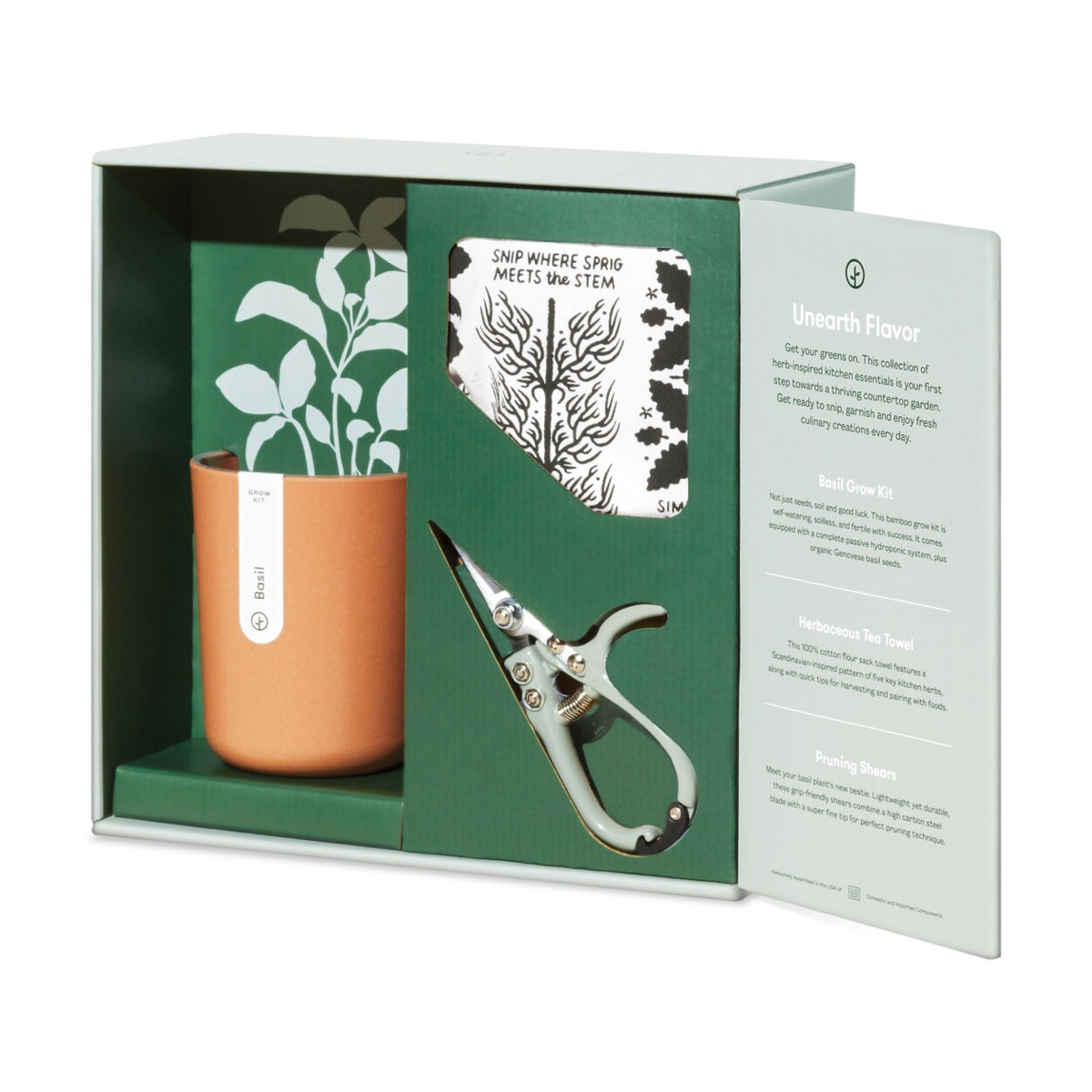 hydroponic herb set in packaging