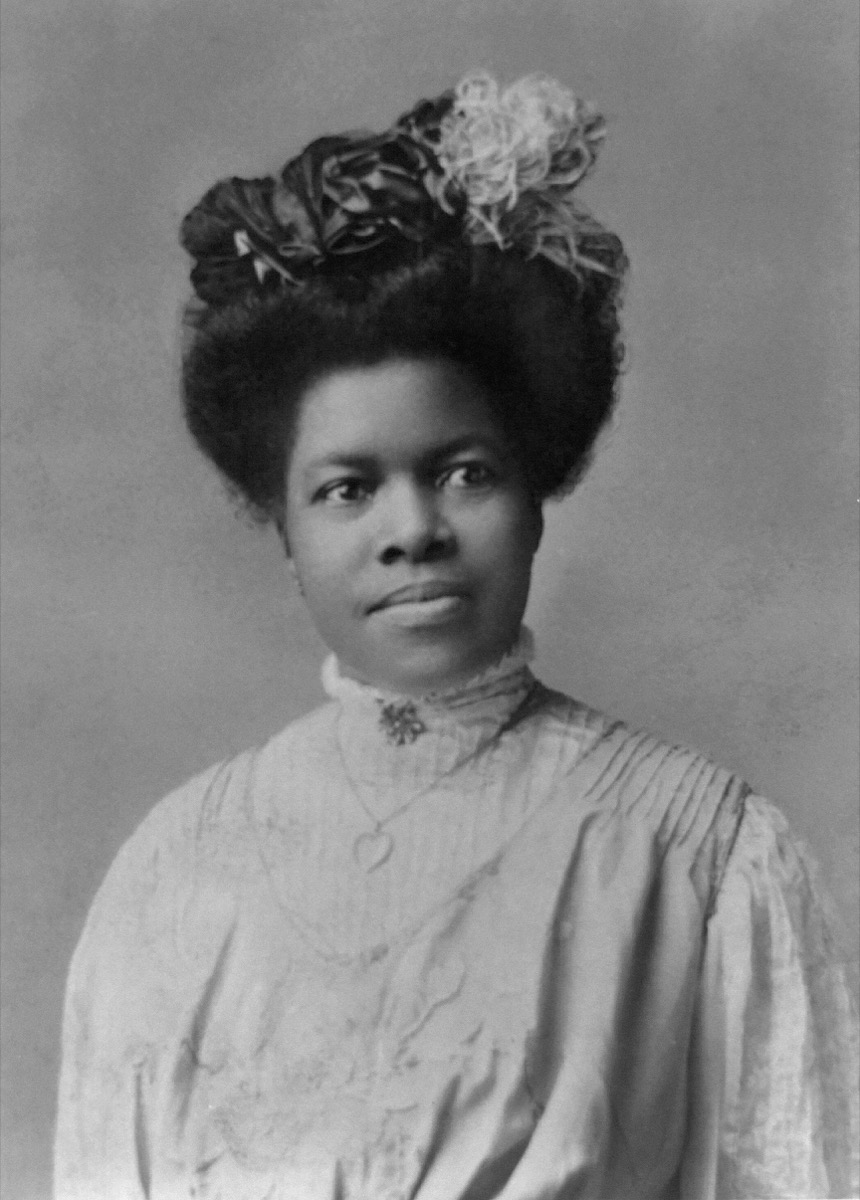 Nannie Helen Burroughs (1879-1961), African American Educator and Civil Rights Activist, Half-Length Portrait, Rotograph Co., 1909