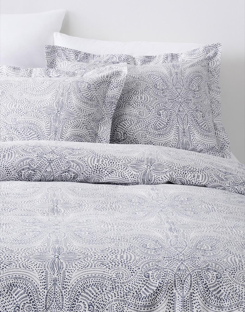 Navy bedding