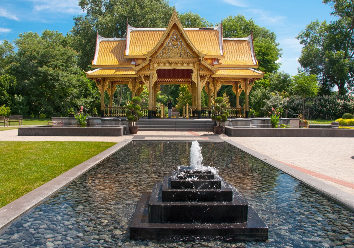 Thai pavillion at the olbrich botanical gardens in Wisconsin