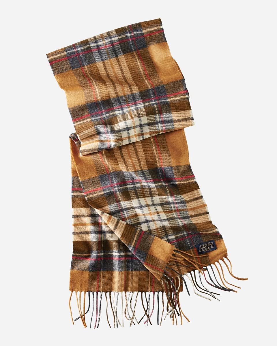 yellow plaid pendleton scarf