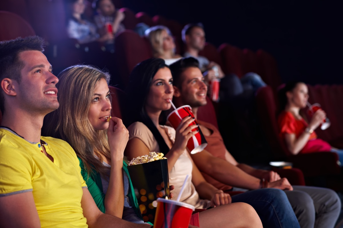 People watching a movie at the movie theatre