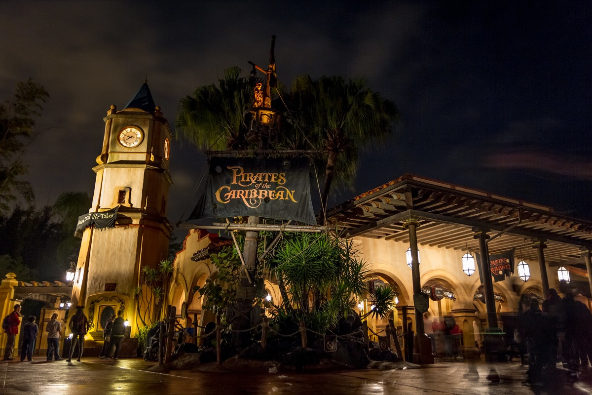 entrance to the pirates of the caribbean ride in walt disney world