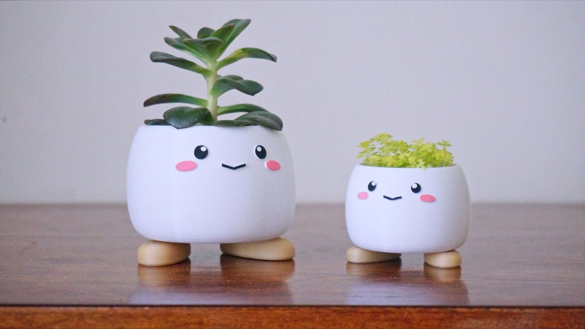 cute planters with faces on them