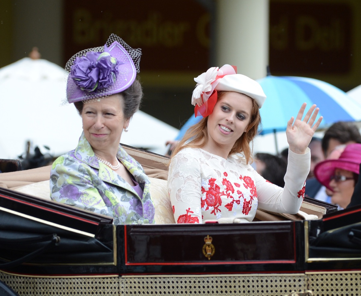 princes anne and princess beatrice attend ladies night