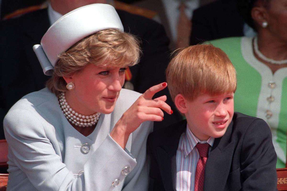 Diana, Princess of Wales with Prince Harry in 1995