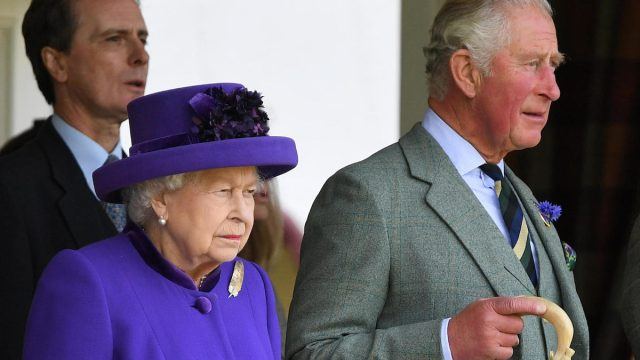 The Queen attends The Braemar Gathering. HM Queen Elizabeth II accompanied by Prince Charles, The Prince of Wales, in 2019
