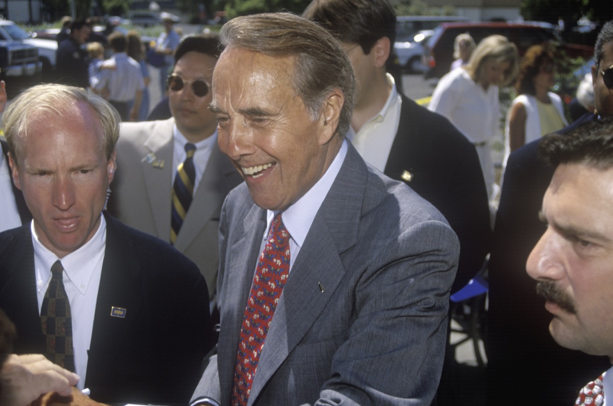 Republican candidate Bob Dole from the 1990s
