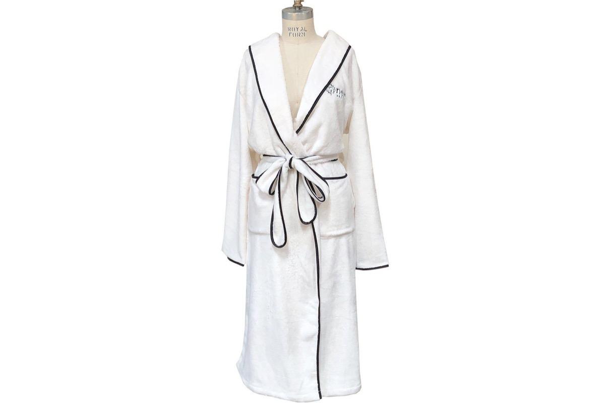 white robe with black trim