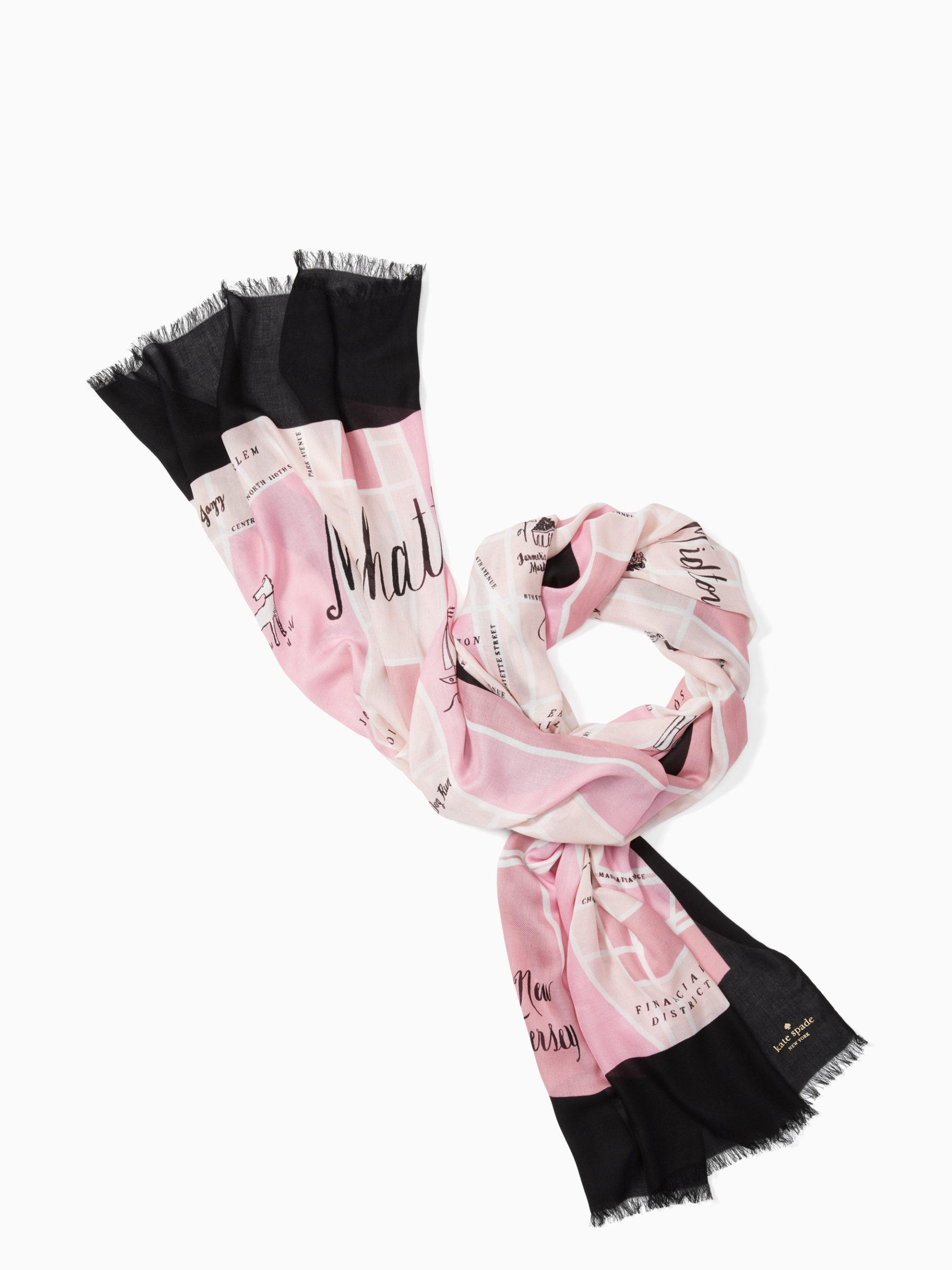 Manhattan map scarf