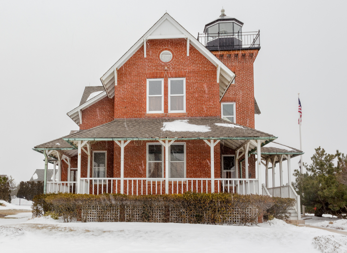 sea girt lighthouse new jersey in the winter