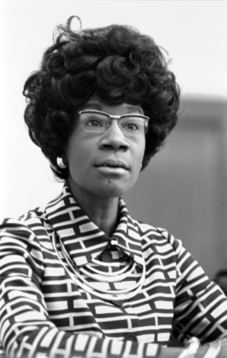 shirley chisholm, politician and civil rights leader portrait