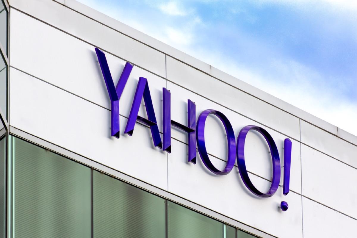 yahoo logo on a building