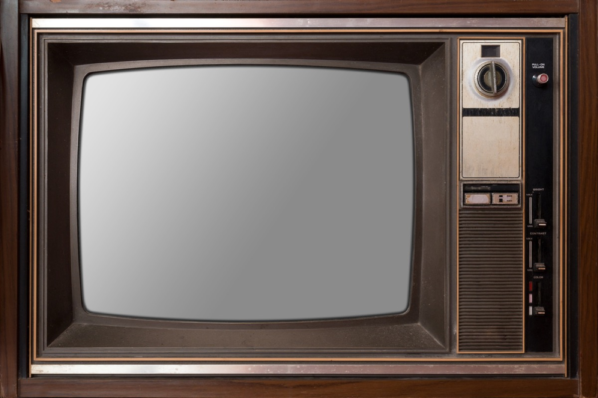 television set from the 1980s