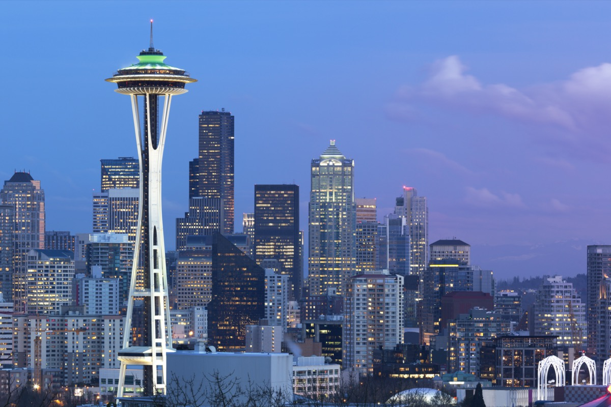 space needle and seattle overview